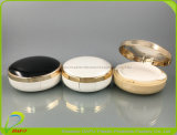 Elegante con l'imballaggio compatto cosmetico ovale della polvere del nero libero della finestra