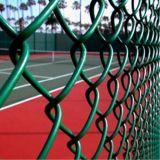 防御フェンスまたはダイヤモンドの塀またはチェーン・リンクの塀