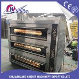 Tellersegment-Pizza-Backofen der Backen-Gerät Commerical Gas-elektrischer 3 Plattform-6 mit Dampf