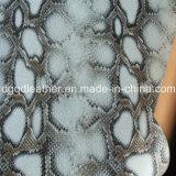 Surface de serpent recto-verso (QDL PU Chaussures en cuir-SP037)