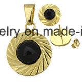 La joyería de la manera fija el espárrago del oído de la joyería del chapado en oro con el colgante (ERS6997)