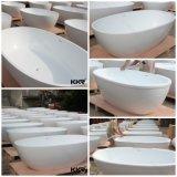 Modernes heiße Wanne-Badezimmer-festes freistehendes Oberflächenbad