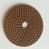 Almofada de polonês molhada de Brown do diamante da alta qualidade para o polonês de pedra