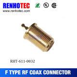 Connecteur environnemental femelle de Grouding Jack F de connecteur de genre plaqué par or