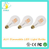 Nouveau design A19 / A60 Ampoule à LED avec incandescent Look and Feel