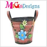 新式の方法金属の花プランター鍋