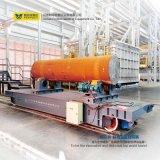 Trabajo plano del carro del cargo del transporte del carril pesado de China con la grúa
