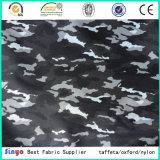 PVC de alta resistencia 600d que mueve hacia atrás la materia textil tejida camuflaje revestido de la tela del poliester