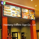 Signe de la bière DEL pour annoncer le panneau de menu d'étalage de cadre léger de cadre de tableau