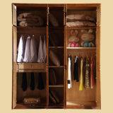 싼 가격 단순한 설계 단단한 나무로 되는 침실 옷장 (GSP9-018)