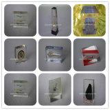 Paperweight acrilico di plastica del lucite su ordinazione con il blocco per grafici foto/della maschera
