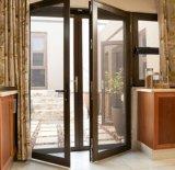 中国の工場によってカスタマイズされるアルミニウム開き窓のドア