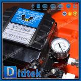 Vanne papillon excentrée de disque de triple pneumatique de Didtek