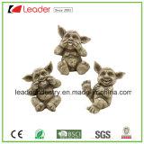 Novo Polyresin engraçado Gárgula pequenas figuras para decoração de jardim