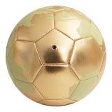 ذهبيّة خريطة تصميم آلة يخاط كرة قدم