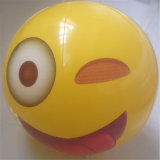12 pouces PVC ou TPU gonflable Face Felling Beach Ball