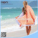 Essuie-main 100% de plage rond de coton rond d'essuie-main de qualité