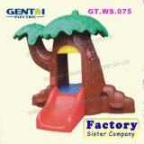 Teatro plástico dos miúdos, casa do jogo de crianças, casa do jogo para miúdos