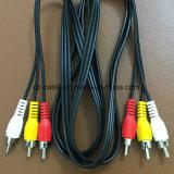 Kabel RCA, 3RCA aan 3RCA (3r-3r), Mannetje aan Mannelijke Kabel, Kabel AV