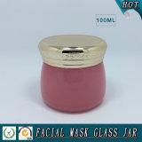 vaso di vetro cosmetico colorato 100g