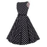 Kitty impresión Audrey Hepburn más vestido de algodón de tamaño para las niñas
