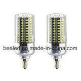 A luz E12 20W do milho do diodo emissor de luz refrigera a lâmpada de prata branca do bulbo do diodo emissor de luz do corpo da cor