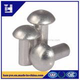 O alumínio fêz a cogumelo o rebite contínuo principal