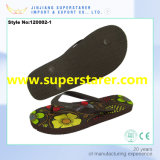 Femmes PE Flip Flops Flower Heat Printing Printing Lady Shoes
