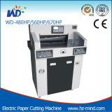Fabricante profesional de papel WD-560HP programa de control hidráulico de la máquina de corte