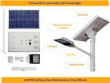 indicatore luminoso di via solare a due pezzi di 18W LED con la batteria LiFePO4