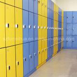 Sólido duradero el armario de la piscina de color azul.