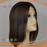 El Color Natural 100% seda Cabello Humano Top Sheitel peluca (PPG-L-0323)