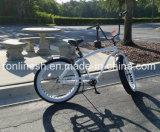 3 7speed Retro/Weinlese/Strand-Kreuzer der Nostalgie-26inx4 breit/fettes Reifen-Fahrrad/fettes Gummireifen-Fahrrad/Sand/Schnee-Fahrrad/fetthaltiges Fahrrad-weißes Wand-Gummireifen-Cer, w-Becherhalter