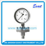 Calibre de pressão de vedação de diafragma de aço inoxidável com flange