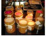 Candela naturale in supporto di bambù, candela della soia della decorazione