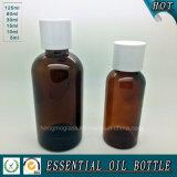Bernsteinfarbige Schalltrichterwesentlich-Öl-Flasche 125ml 200ml