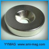 Magneet de van uitstekende kwaliteit van de Zeldzame aarde met de Magneten van de Ring van het Gat van de Schroef