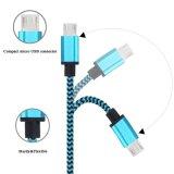 Isolation en nylon 8 broches du câble USB de la foudre pour téléphone Android