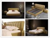 ヨーロッパのSize Leather Double Soft様式のフォーシャンの製造王のベッド