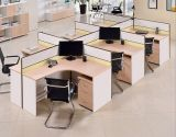 Estação de trabalho de madeira da equipe de funcionários do caixeiro do conjunto da divisória do escritório do MDF (HX- NCD089)