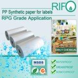 Aufkleber-Aufkleber gründeten synthetisches Papier mit RoHS MSDS