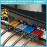 Chaqueta de nylon de aluminio Shell 24k cable HDMI chapado en oro con 2.0V Ethernet