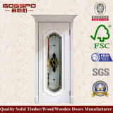 De buitenkant Aangemaakte Houten Voordeur van het Glas (GSP3-054)