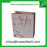 Bolsa de papel de lujo modificada para requisitos particulares de Kraft del regalo para el empaquetado de la ropa