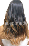 Extenionsの贅沢バージョンクリップの暗い色のRemyの人間の毛髪の拡張