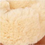 2ベイリーボタンが付いている暖かい冬の羊皮の雪のブート