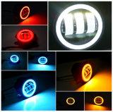 달무리 반지를 가진 지프 논쟁자 RGB 기능 Bluetooth 통제 LED 안개 램프를 위한 4 인치 LED 안개등