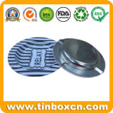 Portacenere rotondo su ordinazione dello stagno del metallo con stampa personalizzata di marchio