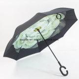 Newsightの逆か逆にされた二重層の防水まっすぐな傘