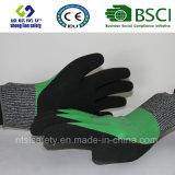 Отрежьте упорную перчатку работы безопасности с перчатками безопасности Sandy покрынными нитрилом